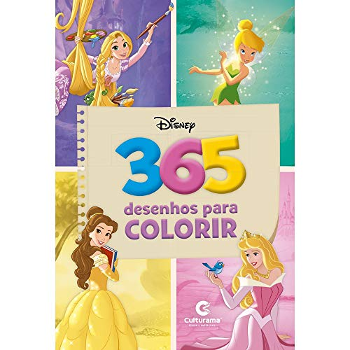 365 Desenhos para Colorir - Princesas Disney, Amarelo