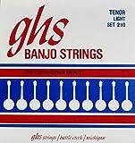 GHS 210 Phosphor Bronze Loop End Tenor 4-String Banjo Strings - Light