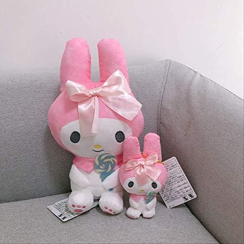 N\A Melodie Kuromi Lollipop Gefüllte Plüschtiere Anime Puppen Mädchen Geschenke 20cm Rosa Melodie