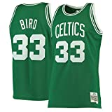 Colrlel #33_Larry_Bird_Boston_Celtics_Kelly Green 1985-86 - Camiseta de Hombre Swingman de Madera Dura clásica para Hombre, S, Verde Kelly