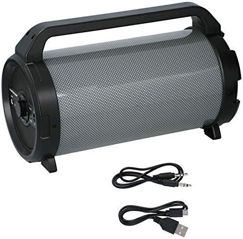 Dunlop Altavoz Bluetooth, portátil, inalámbrico, Radio FM, estéreo, 15 W, LED