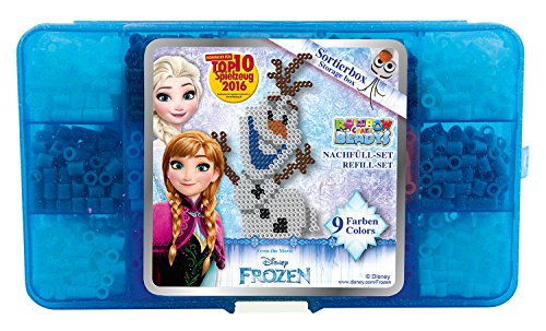 Craze 53127 – Rainbow Beadys strijkkralen navulset Disney Frozen, ca. 1800 kralen