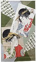 のれん 暖簾 浮世絵のれん 「高名美人」【IT】【DM】(#9893156) サイズ:85×150cm