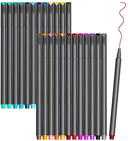 VITOLER Colored Journaling Pens, Fine Line Point...