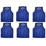 Scrimmage Training Vests Soccer Bibs Adult Set of 12 (Blue)