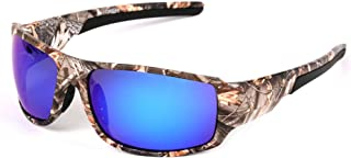 Isafish Polaroid Fishing Sunglasses for Men with Camouflage Frame Glasses Outdoor Sport Hunting Boating Sunglasses