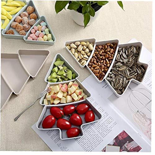 Árbol Aperitivo Bandeja del Bocado del Aperitivo Bandejas Conjunto Postre Platos De Servir Snack-Plato