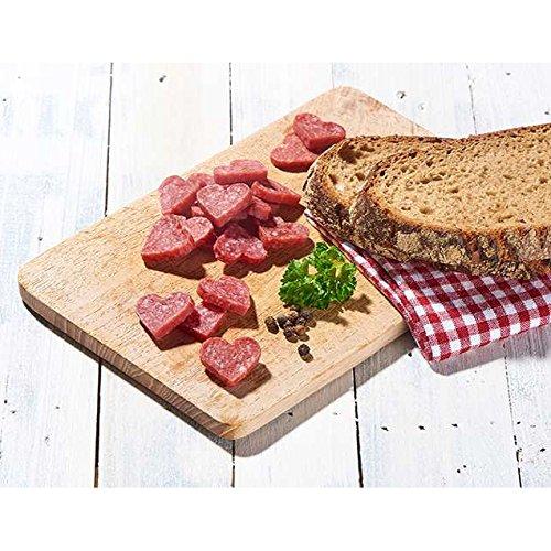 WURSTBARON® - Salami Mini Herzchen - original Wurst Snack Herzen aus Bayern - 16 Packungen mit je 50 g im Karton