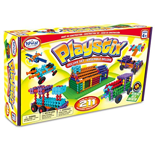 Playstix Deluxe Set Construction Toy Building Blocks 211 Piece Kit