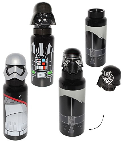 alles-meine.de GmbH 3-D Effekt _ Alu Trinkflasche -  Star Wars - Trooper / Stormtrooper - Kylon Ren - Darth Vader  - 700 ml - aus Aluminium - für Kinder & Erwachsene - Clone Wa..