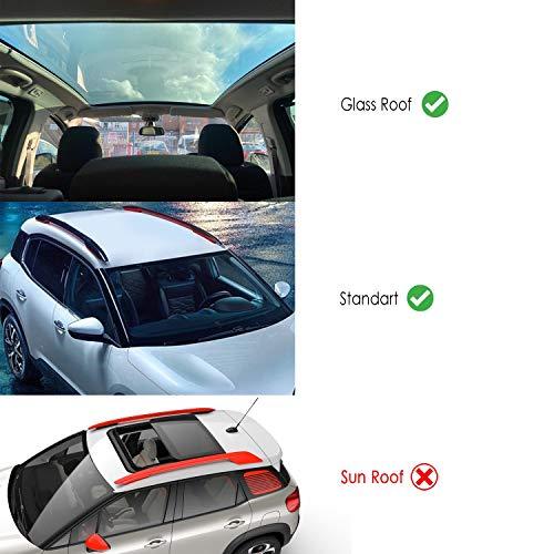 Omad Para Bmw 3 Series Estate/Touring E46 1998-2005 Barras de techo Portaequipajes Barras Transversales Aluminio Gris 2 piezas