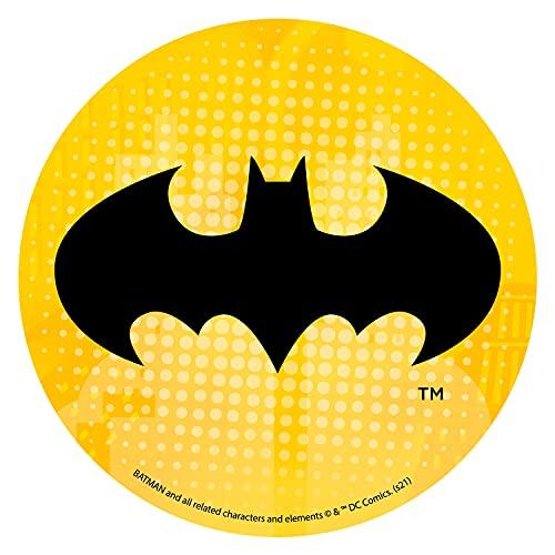 Oblea Batman - Decoración Tartas de Cumpleaños Infantiles en Disco de Oblea Comestible - Diseño Logo Batman - 20 CM
