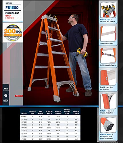 Louisville 6' Fiberglass Step Ladder