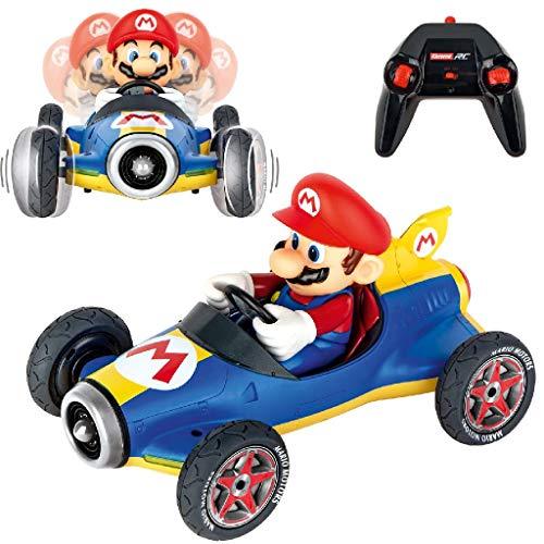 Carrera RC 370181066 Nintendo Mario Kart Mach 8 │ Ferngesteuertes Auto ab 6 Jahren für drinnen & draußen │ Mini Mario Kart zum Fernbedienung zum Mitnehmen │ Spielzeug für Kinder & Erwachsene