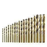 Brocas industriales Fresa espiral Bit 13 19 3 25pcs Edge HSS Broca pistola de acero inoxidable recubierto de metal cobalto M42 agujero de perforación Herramientas profesionales ( Color : 19pcs Set )