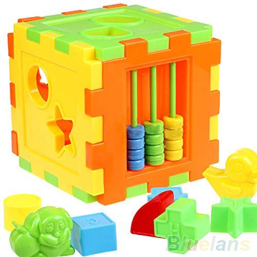 AchidistviQ Cubo de actividad de madera con forma de reconocimiento de color, clasificación de juguetes Montessori, desarrollo temprano, juguete educativo regalo para niños y niñas de 1 año 1 #