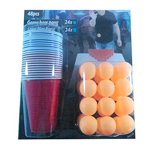 Ardisle 36pc Beer Pong Boire Game Kit Pub cadeau Set Cups Balls Party.