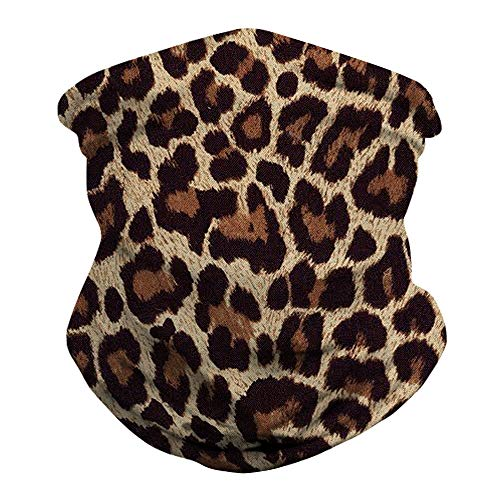 Ainuno Bandana Mask for Women Leopard Print Dust Mask Balaclava Neck Gaiter Leopard Face Cover Wrap for Dust Protection Riding Motorcycle Summer,Leopard