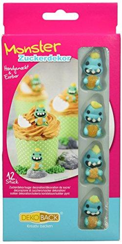 Dekoback Zuckerdekor Monster, 12 Stück, 1er Pack (1 x 5 g)