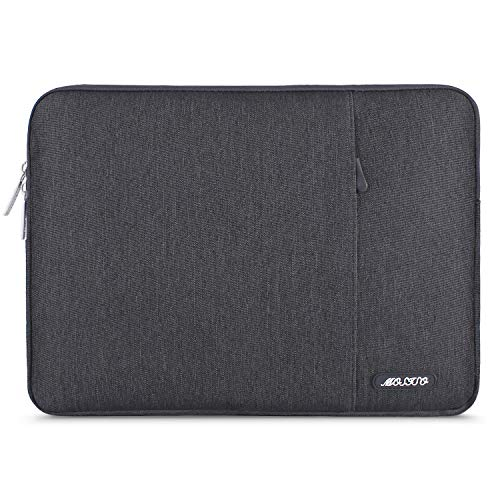 MOSISO Laptop Sleeve Bag Compatible with 13-13.3 inch MacBook Pro, MacBook Air, Notebook Computer, Water Repellent Polyester Vertical Protective Case with Pocket, Space Gray