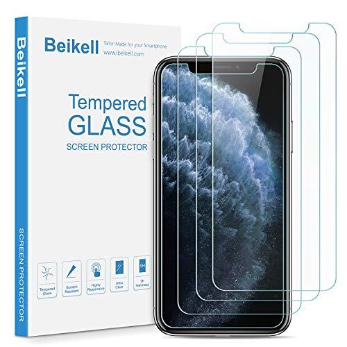 Beikell [4 Pezzi] Pellicola Protettiva in Vetro Temperato Compatibile con iPhone 11 Pro Max/XS Max 6.5' - Durezza 9H, Anti graffio, Senza Bolle, Alta Definizione, Facile da Pulire