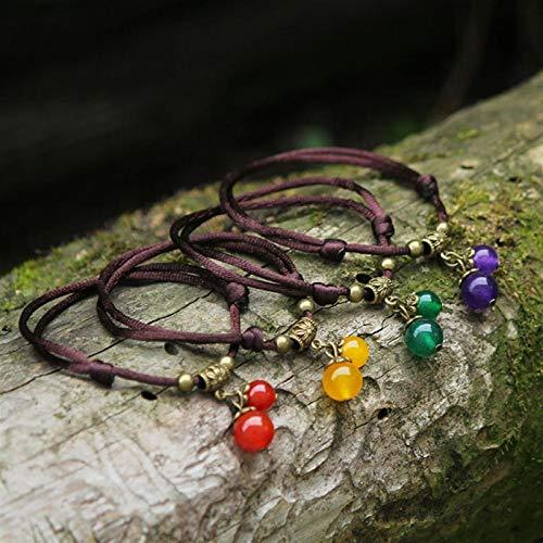 Shability Dos Usos 4 Colores/Set Calcedony Beads Pulseras Y Tobilleras Calidad Original De Calidad Ajustada. yangain