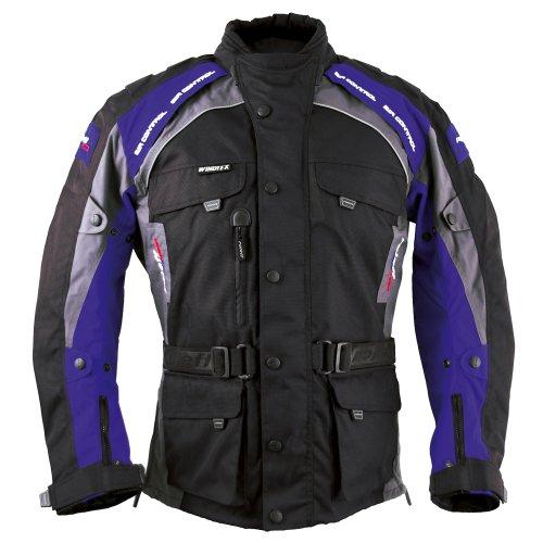 Roleff Racewear 7835 Liverpool Motorradjacke, Größe: XL, Schwarz/Blau