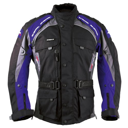 Roleff Racewear 7836 Liverpool Motorradjacke, Größe: XXL, Schwarz/Blau