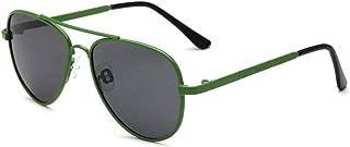 SGJFZD Children UV400 Sunglasses Metal Polarized Mirror Boys Sunglasses Girls Sunglasses (Color : Green)