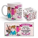 Kembilove Taza de Café de la Mejor Diseñadora del Mundo – Taza de Desayuno para la Oficina – Taza de Café y Té para Profesionales – Taza de Cerámica Impresa – Tazas de Jefe de 350 ml para Diseñadoras