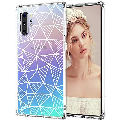 MOSNOVO Schutzhülle für Galaxy Note 10 Plus, geometrisches Muster, transparentes Design, Kunststoff, harte Rückseite, mit TPU-Stoßdämpfer, Schutzhülle für Samsung Galaxy Note 10 Plus