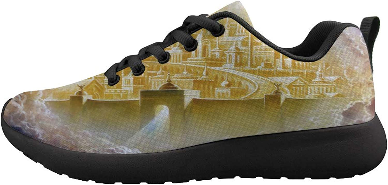 Owaheson Cushioning Sneaker Trail Running shoes Mens Womens Heaven gold Holy City Jerusalem