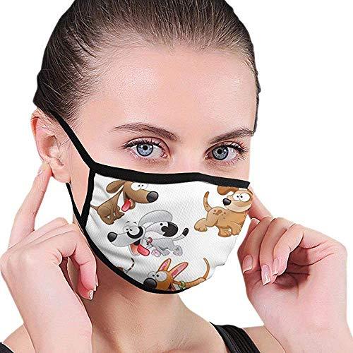 166 Maske Hunde Cartoons Wiederverwendbare Baumwolle Bequeme atmungsaktive Sicherheit Mundmasken Abdeckung Halbgesichtsmaske für Frauen Mann Laufen Radfahren im Freien