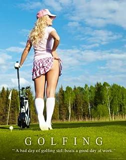Golf Motivational Poster Art Print 11x14 Clubs Shoes Balls Driver Bag Wall Decor Pictures