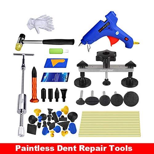 Verloco reparatiegereedschap voor reparatie van deuken zonder kleur, 50 stuks reparatieset voor auto's, voor het repareren van blikken platen, voor auto, koelkast, wasmachine