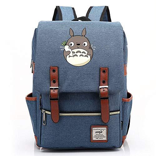 Daypacks,Casual Daypacks Travel Rucksack Anime Cosplay Bookbag College Bag Backpack Laptop Tonari No Totoro Canvas Bag Denim Blue 14 Inch