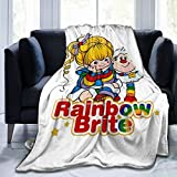 Maizatul Rainbow Brite Soft and Warm Blanket Plush Bed Sofa Living Room Plush Blanket 50' X40' 60' X50' 80' X60'