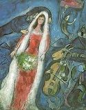 Lux Marc Chagall La Braut 53 x 67 cm Bild auf MDF-Platte mit schwarzem Rand -