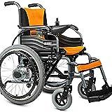 Gpzj Silla de Ruedas, para discapacitados, Silla Plegable de Almacenamiento Ligero con Radio de Giro Agudo para giros fáciles y Afilados, tamaño: 109 93 cm