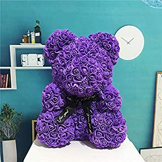 25Cm Rose Bear Pe Foam Rose Wer Artificial for Women Girlfriend Kid Gift Plush Bear Must-Have Baby Boy Gifts The Favourite Anime Superhero Toy Unboxing