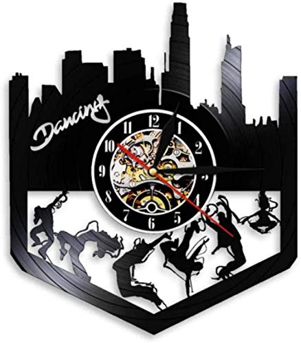 YDZYXY Regalo Reloj de Pared de Vinilo Reloj de Pared Hip-Hop Decoraciones para Colgar en la Pared Retro Habitación para el hogar Regalo Art Deco 12 Pulgadas -12 pulgadasUGT595