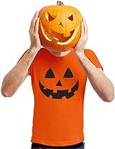 Halloween Pumpkin Shirt Jack O Lantern Face Fun Easy Costume Men Shirt