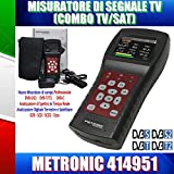 Metronic MISURATORE DI CAMPO TV/SAT (T2+S2) con SPETTRO/SCR/DCSS