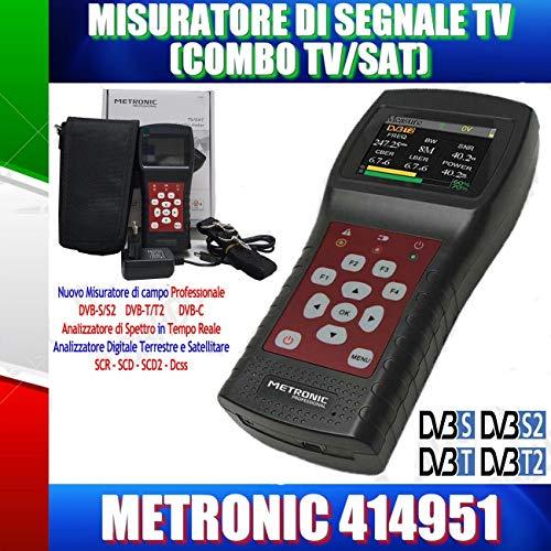 Metronic MISURATORE di Campo TV SAT (T2+S2) con Spettro SCR DCSS