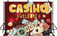 新しい7x5ftカジノの背景大人の誕生日パーティーの背景ポーカーダイスの背景クラブの装飾バナー写真スタジオの小道具27