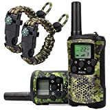 Aikmi Walkie Talkies for Kids 22 Channel 2 Way Radio 3 Miles Long Range Handheld Walkie Talkies Durable Toy Best Birthday Gifts for 6 Year Old Boys and Girls fit Adventure Game Camping (Green Camo 1)