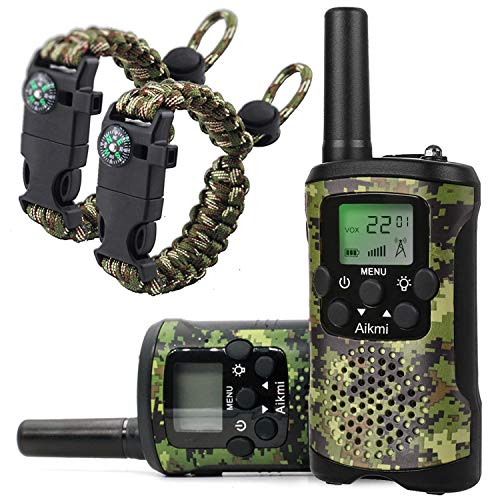 Walkie Talkies for Kids 22 Channel 2 Way Radio 3 Miles Long Range Handheld Walkie Talkies Durable Toy Best Birthday Gifts for 6 Year Old Boys and Girls fit Adventure Game Camping (Green Camo 1)