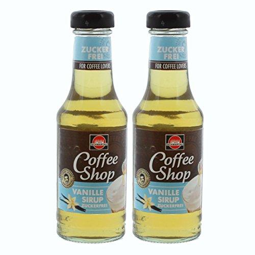 Schwartau Coffee Shop Sirup Vanille Zuckerfrei, Kaffeesirup, für Kaffee und Dessert, 2 x 200 ml
