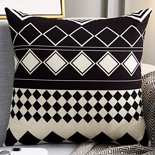 chx Office Lumbar Pillow Fabric Car Pillow Square Living Room Sofa Nap Back Cushion Home Bedside Cushion (Color : H, Size : 40x40cm)