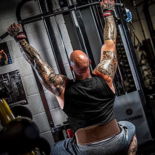 RDX Leder Gym Training Gewichthebergürtel Fitness 6″ Gürtel Dreikampfgürtel 2XL - 4